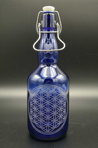 Blauglas - Blume des Lebens .1
