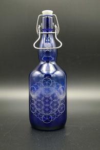 Blauglas - Blume des Lebens .2