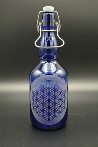 Blauglas - Blume des Lebens .4