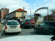 viel Verkehr in Shkodra