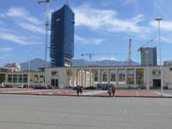 Tirana, Baustelle Stadion