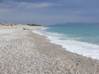 Strand südl. des Passes