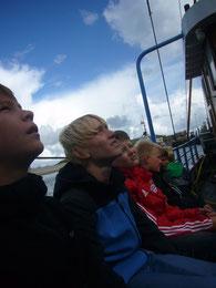 Interessierte Gesichter bei viel Informationen über Wangerooge und das Meer.