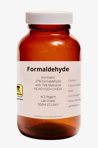 Bild zu Flasche mit 500 ml Formaldehyd HCOH