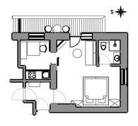 Appartement Glüna - Grundriss