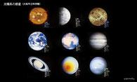 太陽系の惑星(大阪市立科学館より)