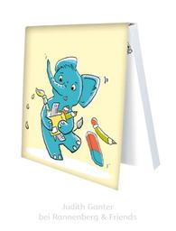 KLEBEZETTEL MIT ELEFANT & MAUS - Schulzeug - Illustration Judith Ganter - Verlag Rannenberg & Friends - Geschenke kaufen, Mitbringsel Kollegen