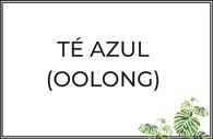 Té azul Oolong puro y aromatizado.