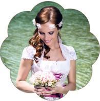 Wiesn Haarschmuck: Blumenhaarkranz mit Edelweiss und Brezen. Seidenblüten Haarkranz Hochzeit, Oktoberfest, Tracht, Sommerfest, Waldfest. Blütenhaarkranz für die Braut.