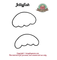 Quiet book Touch and feel book Template jellyfish