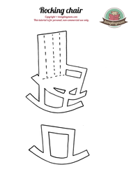 How to make a quiet book? rocking chair
