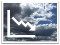 Onweer met dalende grafiek