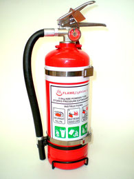 2kg Fire Extinguisher - ABE Class - Motorsport Approved Double Bracket