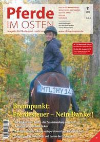 """Einführung der Pferdesteuer war bereits im November 2012 Thema bei """"Pferde im Osten"""""""