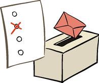 Wahlurne und Stimmzettel