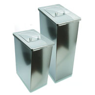 Damenhygienebehälter, Edelstahlcover