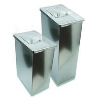 Damenhygienebehälter, Edelstahl