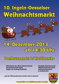 Plakat des 10. Weihnachtsmarktes vom Schützenverein Oesselse