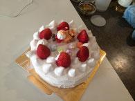 手作りケーキ。豆乳クリームであっさりウマウマ☆