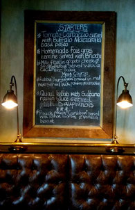 The tempting specials board changes daily at Bistro Michel in Johannesburg. Dante Harker