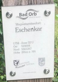 Hotel Spessart Bad Orb Wegweiser Schild