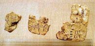 クレタ島で発見された粘土板