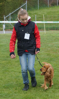 Laura Witzig mit Ingo, Beginners Junior-Handling