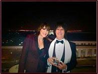 Beth Hart mit Jeff Beck bei der Präsidentengala (Foto:privat)