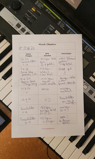Musik Übeplan Instrument Beispiel