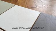 Beschichtungstechnik fugenlos für Wand und Boden - Muster Farbtöne RAL NCS Farrow&Ball Corbusier - Auf Wunsch auch Spezialfarbtöne - Raumgestaltung Wunderbar Zürich