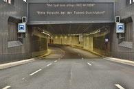 Tunneleinfahrt unmittelbar nach dem Start