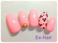 ピンク×レオパード柄