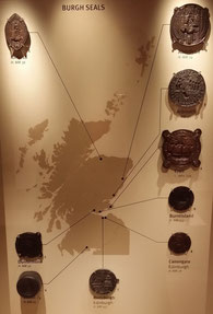Siegel der ersten burghs, National Museum of Scotland