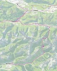 Route von Feistritz an der Gail nach Bovec