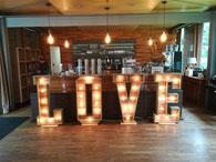 Hochzeit Deko - LOVE XXL Buchstaben mieten  Saarland