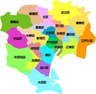 東京都23区の地図画像