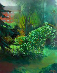 "Lukas Johannes Aigner, ""Ohne Titel"", Acryl/ÖL auf Leinwand, 100x70 cm, 2005"