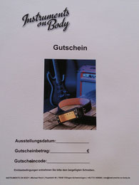 Instruments on Body. Gutschein. Webshop-Gitarristen.