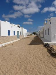 Der Hauptort von Isla Graciosa, Caleta de Seba