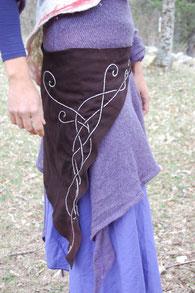 ceinture celtique, création artisanale de Fileuse d étoiles