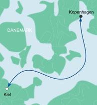 Mit AIDAluna von Kiel nach Kopenhagen in Dänemark