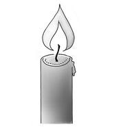 Brennende Kerze zeigt die drei Aggregatzustände von Kerzenwachs