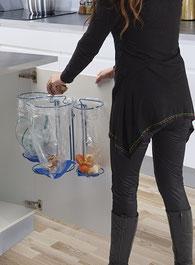 Køkken affaldsstativer til sortering af affaldssortering system Flower 2