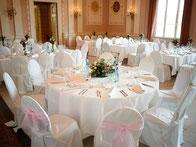 Tischdekoration, Stuhlhüssen, Vasen, Deko, Hochzeitsdekoration