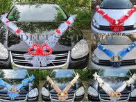 Autoschmuck, Hochzeitsauto, Girlande mit Herzen für Motorhaube
