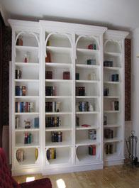 Bücherregal Weiss lackiert