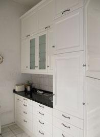 Küche Esche Massiv weiss lackiert