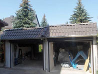 Blende mit Dachziegeln