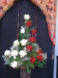 Centro de 13 rosas .