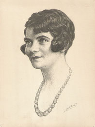 Génia Bilis sa nièce 1928